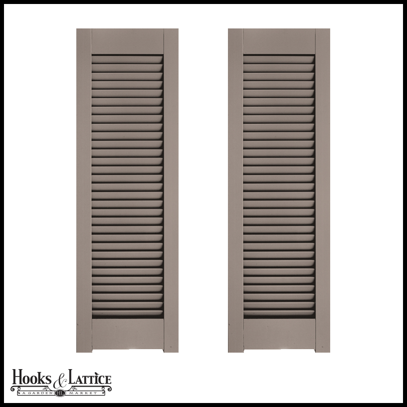 24in wide architectural collection single panel louvered shutters w horns pair for 18 inch wide exterior shutters