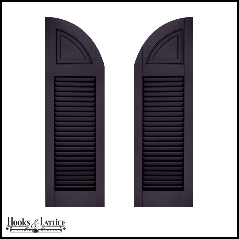 Arched Shutters Exterior