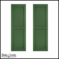 12in. Wide - Architectural Collection Two Equal Flat Panel Shutters (Pair)