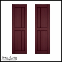 24in. Wide - Architectural Collection V-Groove Flat Panel Shutters (Pair)