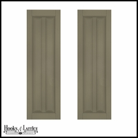 12in. Wide - Architectural Collection Vertical Cut Profile Single Panel Shutters (Pair)