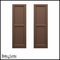 12in. Wide -Classic Collection 2 Equal Flat Panel Shutters (Pair)