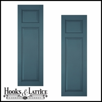 24in. Architectural Collection Raised 2 Unequal Panel Shutters (pair)