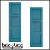 24in. Wide Classic Collection Raised 3 Equal Panel Shutters (pair)