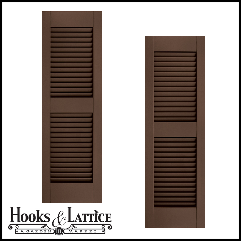 24in Wide W Center Rail Architectural Collection Fixed Louvered Composite Fiberglass