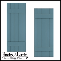 24in. Wide with 5 Boards - Classic Collection Composite Board & Batten Shutters (pair)