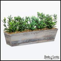 24in. Window Box Recipe - Outdoor Artificial Boxwood Bushes
