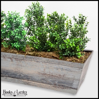 60in. Window Box Recipe - Outdoor Artificial Boxwood Bushes