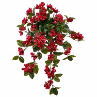 "26"" Outdoor Artificial Bougainvillea Vine - Fuchsia"