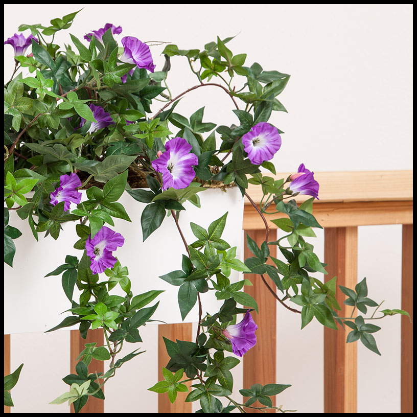 26in. morning glory vine, indoor rated - purple Artificial Indoor Flowers