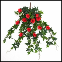 26in. Morning Glory Vine, Outdoor Rated - Red