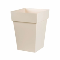 26in. Paris Tall Square Planter - Linen