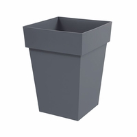 26in. Paris Tall Square Planter - Slate