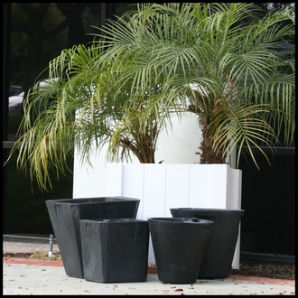 "27.3""Round Self Water Planter Inserts - Fits in 30"" Pot"