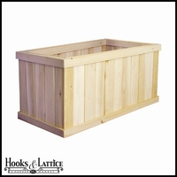 "28""L x 18""W x 17""H Oversized Slatted Deck Planter"