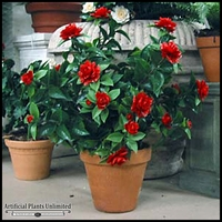 28in. Outdoor Artificial Gardenia - Red - Outdoor