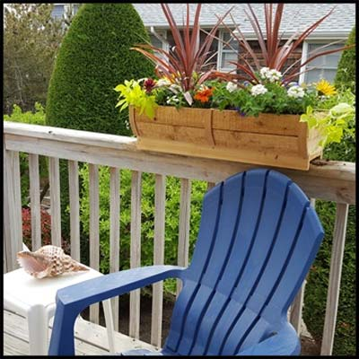 flowers with rails planters s shown on railing inch planter rail supply deck fit buy gardener sale boxes