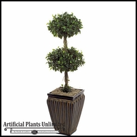 3.5' Artificial Double Ficus Topiary Tree