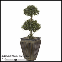 3' Artificial Double Ficus Topiary