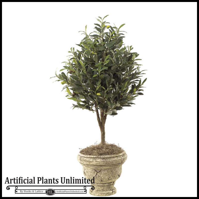 3\' Artificial Olive Tree Topiary - Indoor