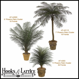 3' Artificial Palm Bush, Outdoor Rated