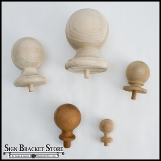 "3"" B1 Wood Ball Finial-  Furniture Grade"