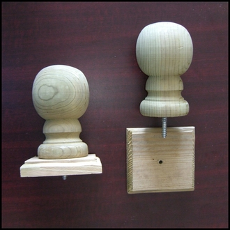 "3"" B1 Wood Ball Finial - Standard Grade"