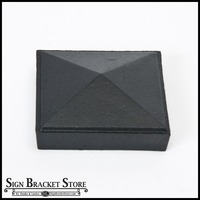 "3"" Sq Cast Iron Cap - Pyramid - Black"