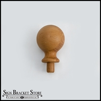 "3""  Wood Ball Finial- Furniture Grade, Style B2"