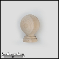 "3""  Wood Ball Finial- Furniture Grade, Style B6"