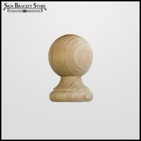 "3"" Wood Decorative Finial- Furniture Grade, Style D7"
