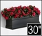 30in. Black Supreme Fiberglass Window Box