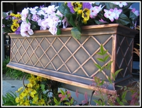 30in. Copper ArmoreCoat La Fleur Window Box