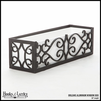 "30"" Orleans Aluminum Window Box"