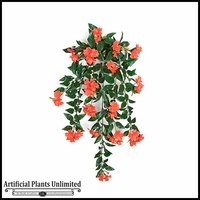 30in. Outdoor Artificial Impatiens Vine - Coral