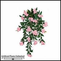 30in. Outdoor Artificial Impatiens Vine - Pink