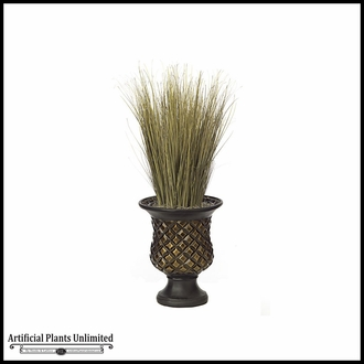 30in. PVC Onion Grass - Green/Brown|Indoor