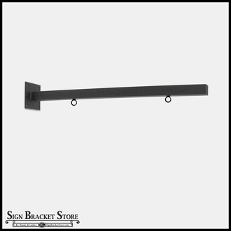 "30"" Straight Arm Sign Bracket with Rings"