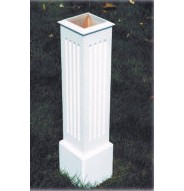 "30"" Tall Fluted PVC Post Sleeve"