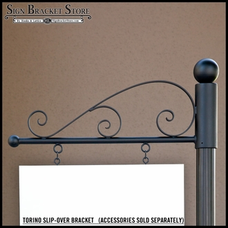 "30"" Aluminum Torino Slip-Over Bracket Only"