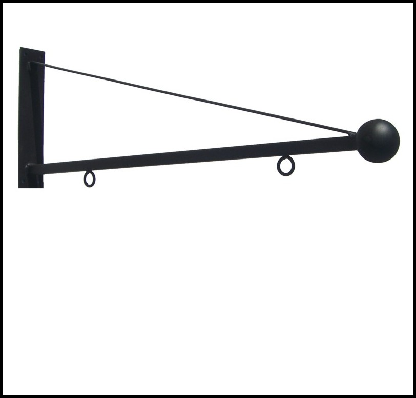 30in Triangle Ball Hanging Blade Sign Bracket
