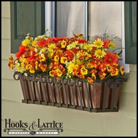 "30"" Venetian Decora Window Box with Oil - Rubbed Bronze Galvanized Liner"