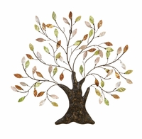 "30""W x 29""H Metallic Leaf Tree Wall Decor"