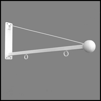 "30"" White Triangle Ball Sign Bracket"