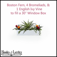 "30"" Window Box Recipe - Artificial Tropical Flowers"