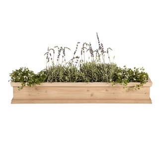 30in. Laguna Cedar Window Box with Optional Liner