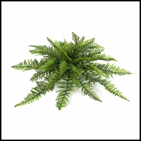 30in. Outdoor Artificial Ruffle Fern