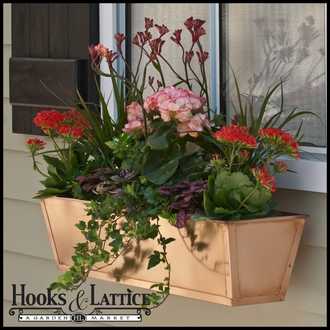 30in. Real Copper Window Box or Decora Liner