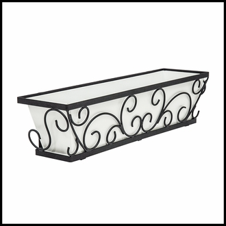 30in. Regalia Decora Window Box w/ Bronze Galvanized Liner