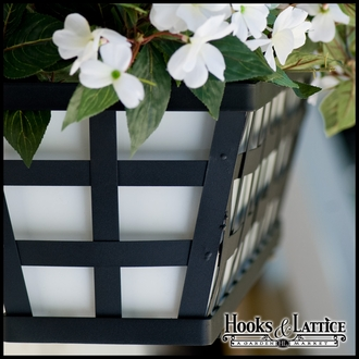 30in. Santiago Decora Window Box w/ White Galvanized Metal Liner